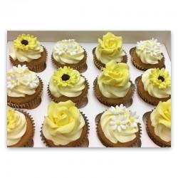 Vanilla Cupcakes - Flowers