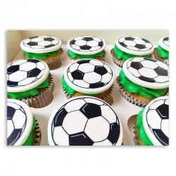 Vanilla Cupcakes - Football